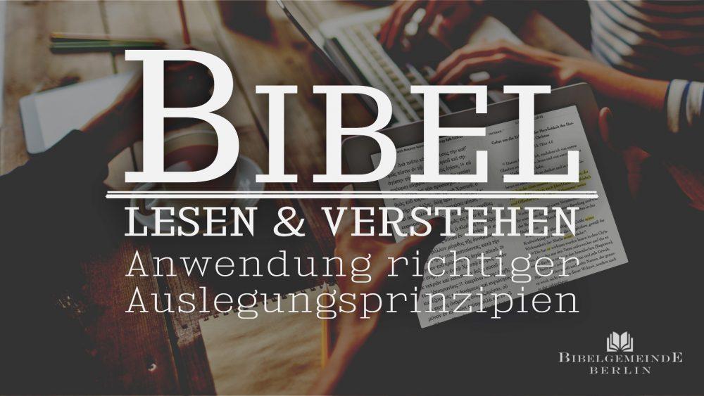 Bibel lesen und verstehen