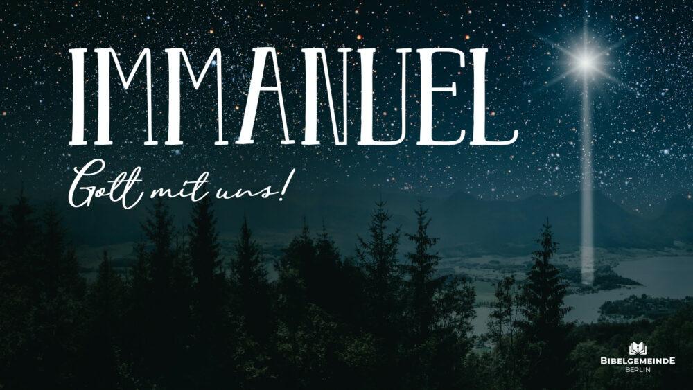 Immanuel –Gott mit uns! Image